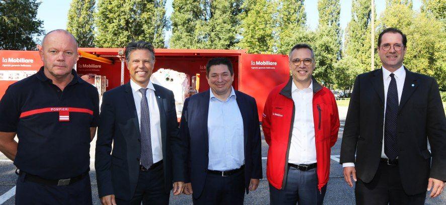 La Mobiliare dona un container antiesondazioni alla Città